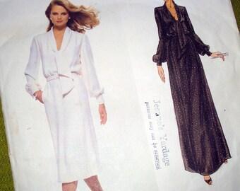 1970s Vintage Vogue Paris Original Sewing Pattern - Pierre Balmain - Boho Chic Blouson Dress - UNCUT FF