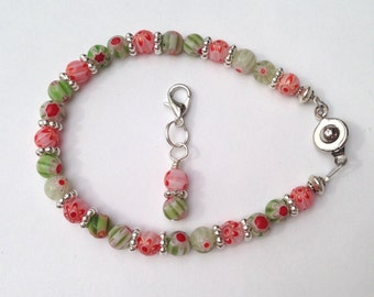 Gift idea for dieter, Weight Loss Bracelet, Weight Watchers, Points tracker, colorful, flowery beads