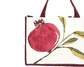 Pomegranate Farmers Market Bag - Shopping Bag - Reusable