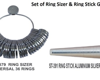 PARUU® Set of Ring stick and Ring sizer st379-391