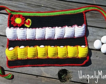 Crochet Pattern,Original Egg Gathering,Egg Collecting,Instant Download,Collecting Apron,athering Apron,Apron DIY,