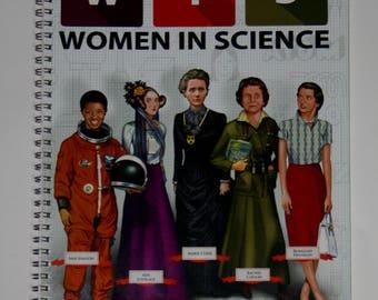 Women in Science Notebook science notebook science spiral notebook science journal