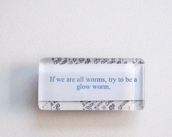NEW - Chinese Fortune Glass Magnet - Glow Worm