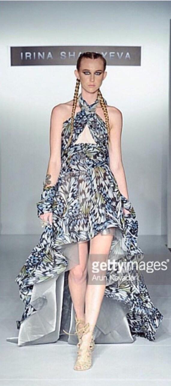Selena Gomez Butterfly Print Dress By Irina Shabayeva
