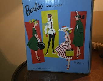 Barbie Doll Mattel 1960's  Blue Ponytail Wardrobe Case - vintage