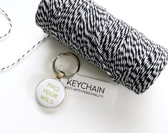 Find your wild keychain. Key chain for adventure lovers.