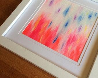 Original Acrylic Abstract Painting on canvas framed, Abstract Art, Modern Art, Abstract Painting, Wall Art, Home Decor