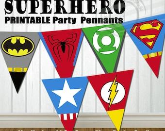 PRINTABLE Superhero Party Banner Super hero Party Banner Super hero Birthday Banner Superhero Birthday Banner Superhero Banner for Birthday