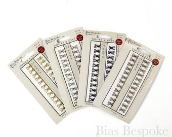 24 Sets or 144 Sets of GLEN Size #00 Small Hooks & Eyes