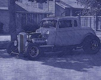 Antique Auto Print item #4015