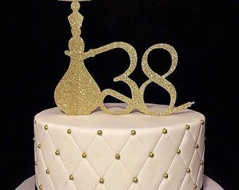 Hooka Cake Topper - pipe bling cake topper