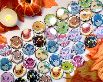 Pokemon Eeveelution Inspired Buttons