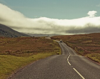 """Travel photography, large photography. England art print - """"The Open Road"""""""