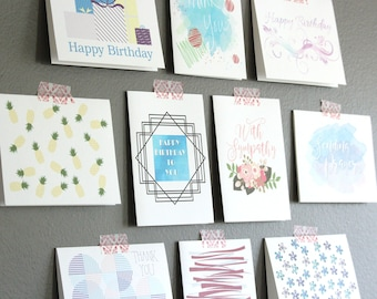 Assorted Greeting Card Boxed Set   Bulk Birthday Cards  Note Card Assortment   Variety Card Set   Blank Greeting Card   Variety Card Set
