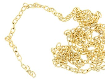 Gold-plated thin chain