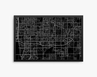Chandler City Street Map, Chandler Arizona USA, Modern Art Print, Chandler Office Decor, Chandler Home Decor, Chandler Map, Chandler Print