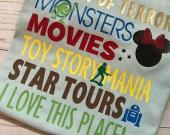 Hollywood Studios Tee Shirt - Disney Vacation - Disney World - Tower of Terror -Comfort Color