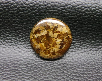 Natural Bronzite Smooth Round Shape Cabochon 1 Piece 26x26x5 MM Size Loose Gemstone Really Awesome Finest Quality