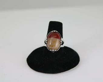 MOOKAITE JASPER RING - Sterling Silver - Handcrafted - Ring Size 6 - Free Shipping