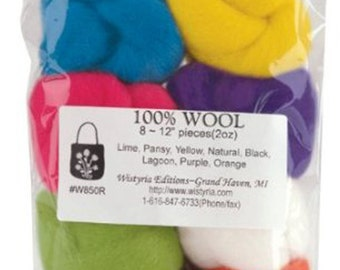 """Wistyria Editions 100% Wool Roving - 12"""" - Classic - 8 pack"""