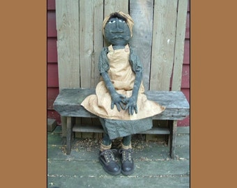 large primitive folk art Grammy doll instant download pattern HAFAIR HAGUILD OFG faap 305