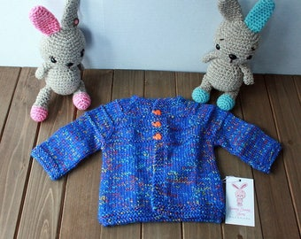 Hand Knit Baby Sweater 3-6M Ready to Ship