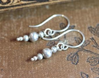 Sterling Silver Earrings Silver Bead Dewdrop Dangle Earrings Gold Earrings