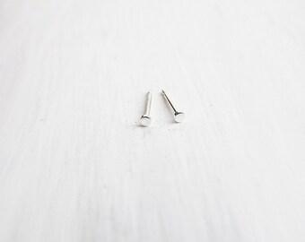 Teeny Tiny Sterling Silver Stud Earrings 1.5mm
