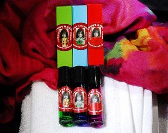 GYPSY PERFUME APOTHECARY  Gypsy Rose   Gypsy Patchouli & Gypsy Magic 10ML All Natural Botanical Perfume Trio  ForHer  Birthday  Bridal
