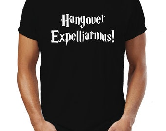 Hangover Expelliarmus Harry Potter Style Wizard Witch Magic Spell Funny T-Shirt