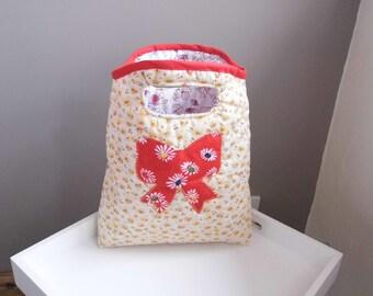 A Beautiful Handbag with Applique Design