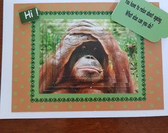 Orangutan birthday card