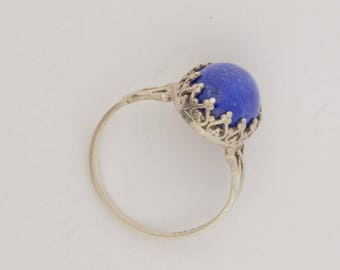 Emory Silver Studio *Lapis Ring Handcrafted*