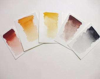 Ancient Collection - Handmade Watercolor Paint - 6 colors- Art Supply - Artist Gift - Art Paint - Handcrafted Professional Watercolour