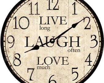 Live Laugh Love Clock