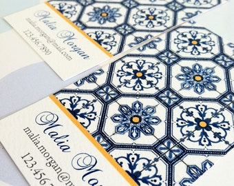 Personalized Business Card Calling Card Mosaic Tile - Set of 50