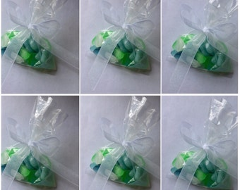 Sea Glass Soap Pebbles, Realistic Original Handmade Soap Pieces, Lot of 6 - 1.5oz. bags Weddings,Party Favors,Custom Orders Welcome