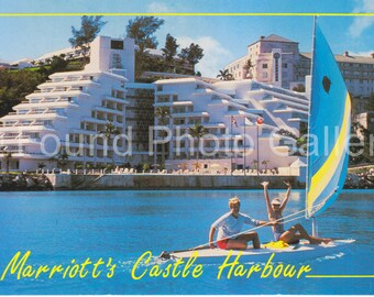 Vintage Postcard, Marriott's Castle Harbour Hotel Bermuda, Color Photo Postcard, Vacation Resort