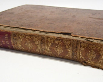 Antique Bible Dictionary by Late Rev. John Brown Mid 1800s Edited by Dr Wm Brown