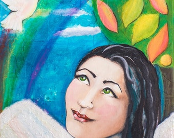 Peace and Love, an Original Painting for Your Hopes and Dreams
