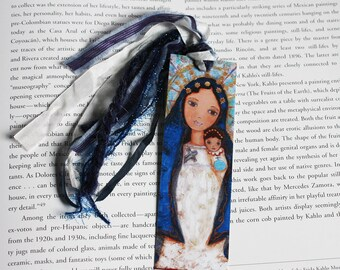 Our Lady of Charity -  Laminated Bookmark  Handmade - Original Art by FLOR LARIOS
