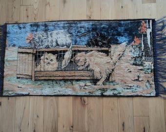 Cat Tapestry rug 1960s