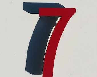 """Architectural Arts and Crafts  9""""/228mm high Mission Mackintosh House numbers in virgin cladding g"""