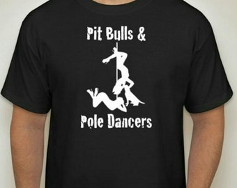 Pitbulls & Poledancers Fundraiser t-shirt for men