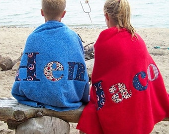 Patriotic Personalized Towels-The Perfect Gift-- For The Whole Family Mom Dad Boy Girl