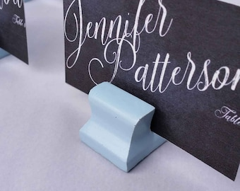 Cute Curves Weighted Place Card Holder - Morning Sky (Sample Quantities)