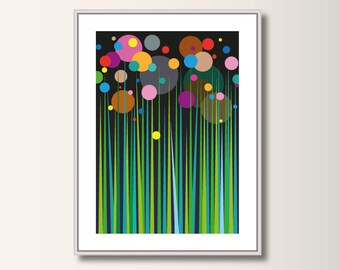 Fairy Tale forest, geometric printing, abstract, geometric, minimalist printing, Scandinavian printing, abstract poster, minimal print