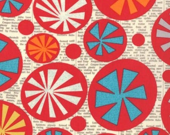 Sale - Mod-Century pin wheel fabric