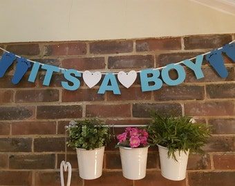 Its a Boy Hand Made Bunting Banner