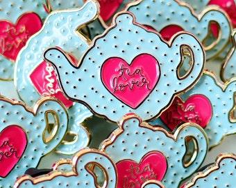 Tea Enamel Pin   Tea Pin   Pingame   Teapot Jewellery   Pin Badge   Lapel Pin   Gifts for Tea Lovers